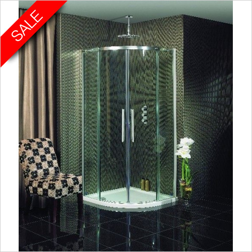 Simpsons Shower Enclosures - Ten Quadrant Double Door 1000mm