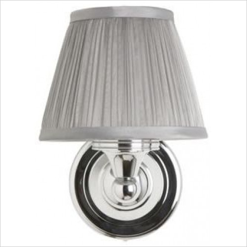 Burlington - Round Base Light, Chiffon Pleated Shade