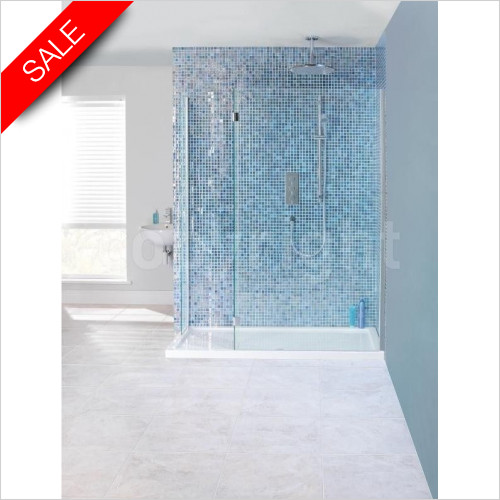 Simpsons Shower Trays - Design View Double Sided Walk In 1700 x 800mm