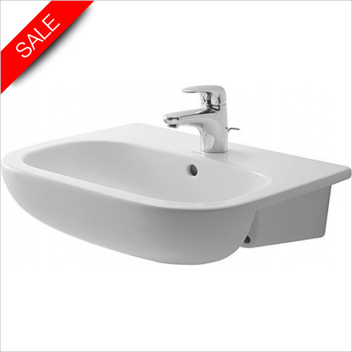 Duravit Basins - D-Code Semi-Recessed Furniture Basin 550mm 3TH