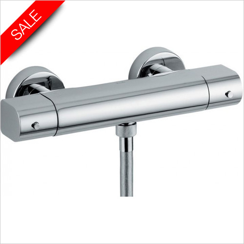Abode - Euphoria Low Pressure Exposed Thermostatic Shower Mixer
