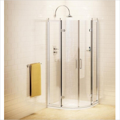 Burlington Shower Enclosures - Quadrant Enclosure 80cm