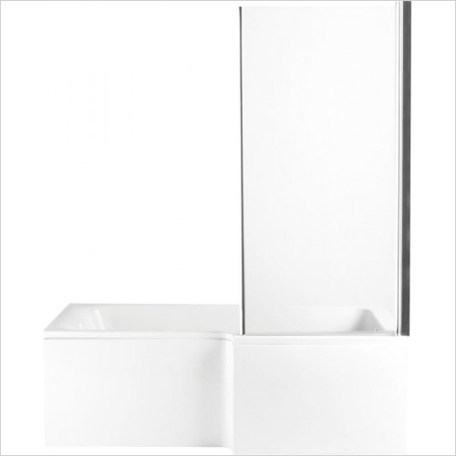 Heritage Baths - Zaar L Shaped Bath Screen