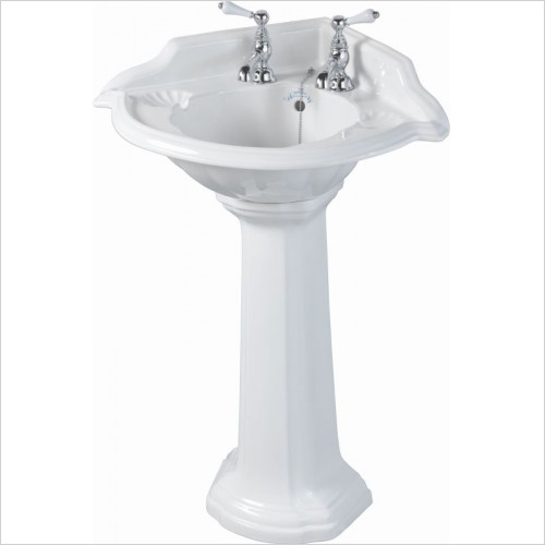 Imperial Bathroom Basins - Oxford Corner Basin 615mm 2TH