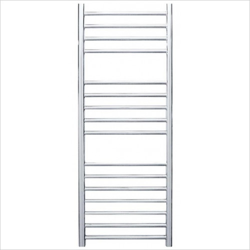 JIS Towel Radiators - Steyning Cylindrical Electric Flat Front Towel Rail 1000x400