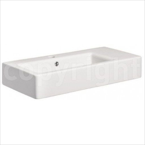 Bauhaus - Air Wall Mounted Basin With Overflow 600mm