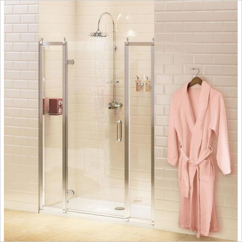 Burlington Shower Enclosures - In-Line Panel 40cm