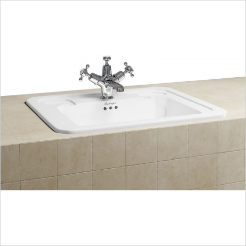Burlington Basins - Fully Inset Vanity Basin 54cm 2TH
