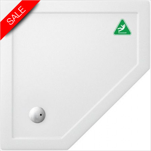 Simpsons Shower Trays - Pentangle Tray 900x900x35mm Anti Slip