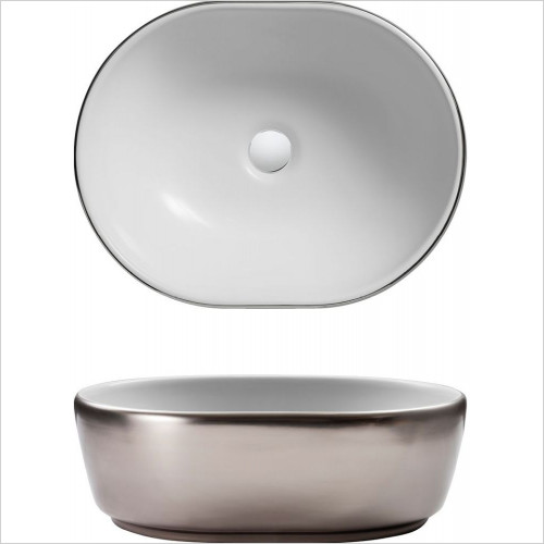 Bauhaus - Pearl Counter Basin 450x350x150mm With Overflow