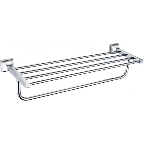 Heritage Accessories - Chancery Double Bathroom Towel Shelf
