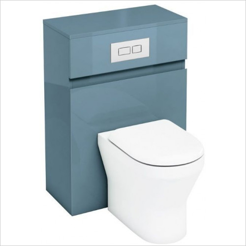 Aqua Cabinets - Back To Wall WC Unit 600mm With Flush Plate