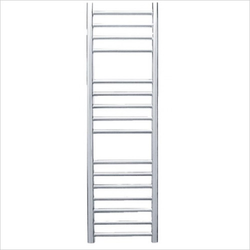 JIS Towel Radiators - Steyning Cylindrical Electric Flat Front Towel Rail 1000x300