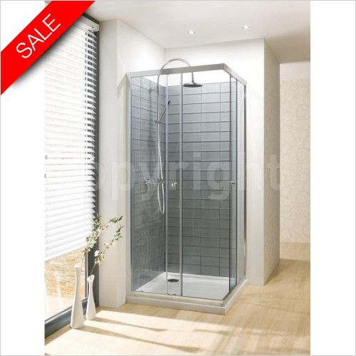 Simpsons Shower Enclosures - Edge Corner Entry 900mm