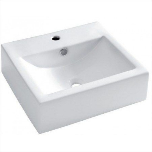 Bauhaus - Bolonia Wall Mounted Basin With Overflow 510mm