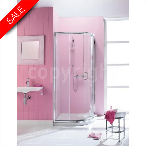 Simpsons Shower Enclosures - Supreme Quadrant Single Door 1000x800mm