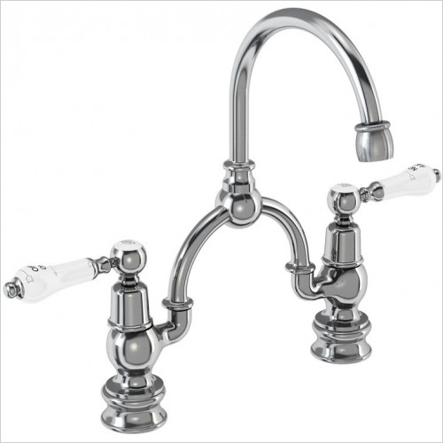 Burlington Taps - Kensington Regent Bridge Basin Mixer With Overflow