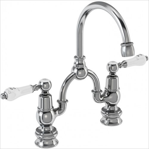Burlington Taps - Kensington Regent Bridge Basin Mixer With Curved Spout