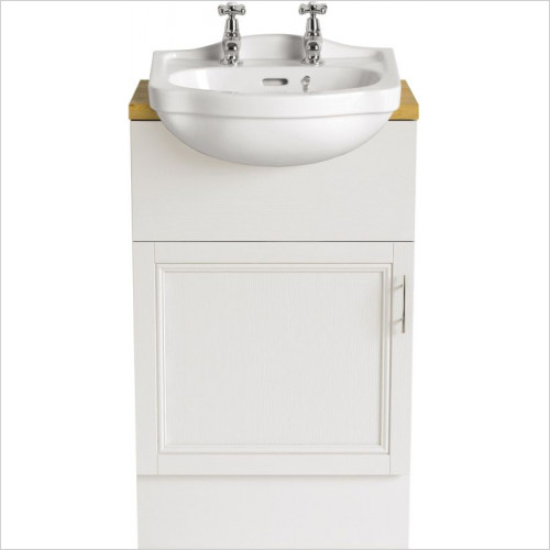 Heritage Basins - Rhyland Cloakroom Semi-Recessed Basin 2TH