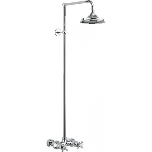 Burlington Showers - Eden Thermostatic Exposed Shower Bar Valve Single Outlet
