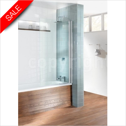 Simpsons Bath Screens - Design Semi Frameless Single Bath Screen 850x1500mm