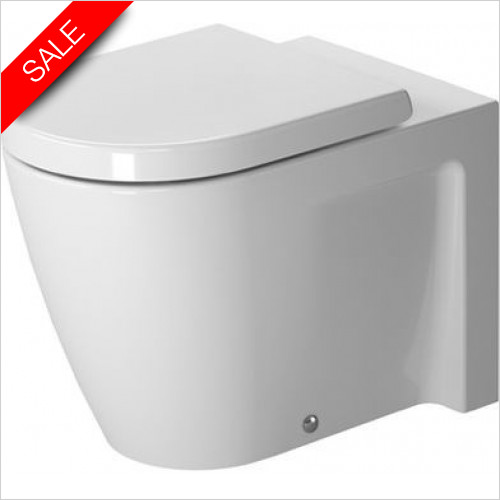 Duravit Toilets - Starck 2 Toilet Floorstanding 570mm Washdown Closed