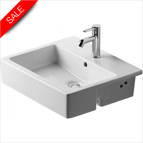Duravit Basins - Vero Semi-Recessed Washbasin 550mm 1TH