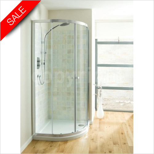 Simpsons Shower Enclosures - Edge Quadrant Double Door 1200x800mm