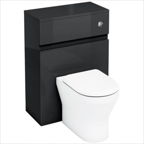 Aqua Cabinets - Back To Wall WC Unit 600mm With Flush Button