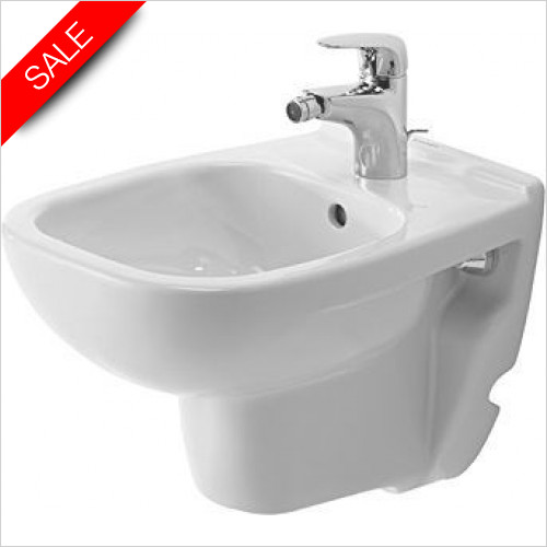 Duravit Toilets - D-Code Bidet Wall-Mounted 480mm Compact 1TH