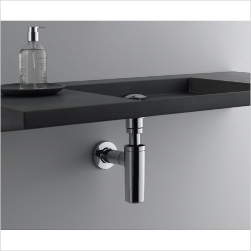 Geberit - Bathtub Drain With Pushbutton Actuation Pushcontrol, D52