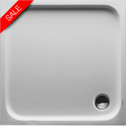 Duravit - D-Code Shower Tray 900x900mm Square Outlet Diam 90mm