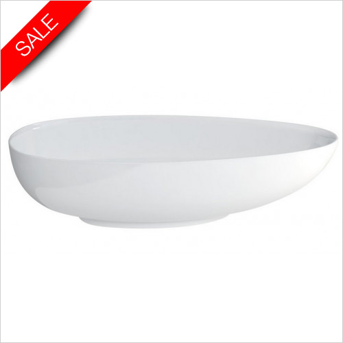 Clearwater - Teardrop Large Modern Bath 1910 x 820mm Clearstone