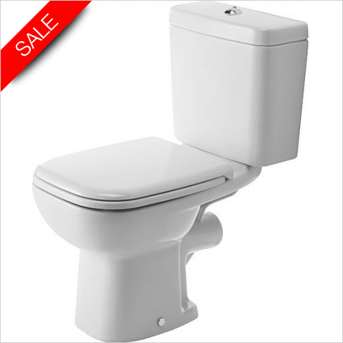 Duravit Toilets - D-Code Toilet Close-Coupled 650mm Washdown