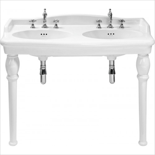 Heritage Basins - Victoria Double Console Basin 3TH Each Basin