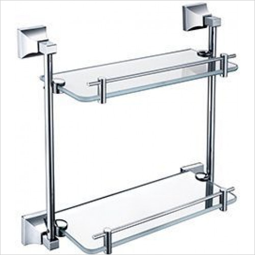 Heritage Accessories - Chancery Double Glass Shelf