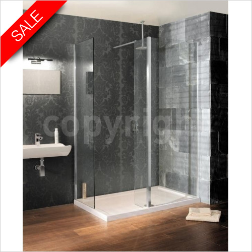 Simpsons Shower Trays - Design View Walk In End Panel