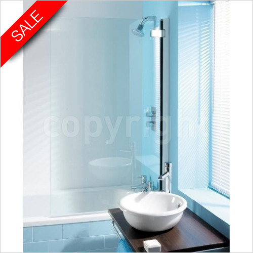 Simpsons Bath Screens - Classic Hinged Bath Screen 860x1385mm