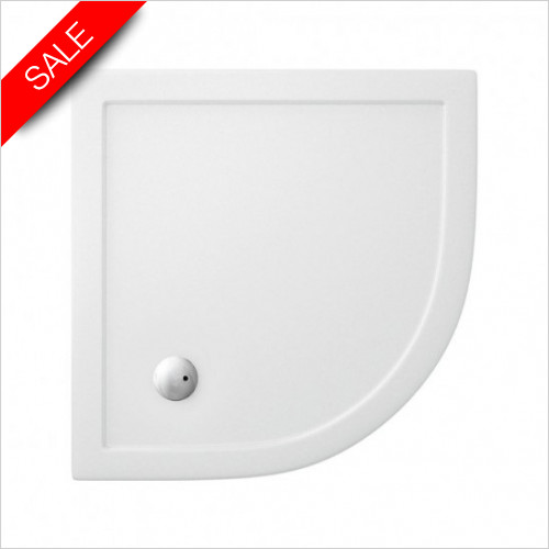 Simpsons Shower Trays - Offset Quadrant Tray 900x800x35mm LH