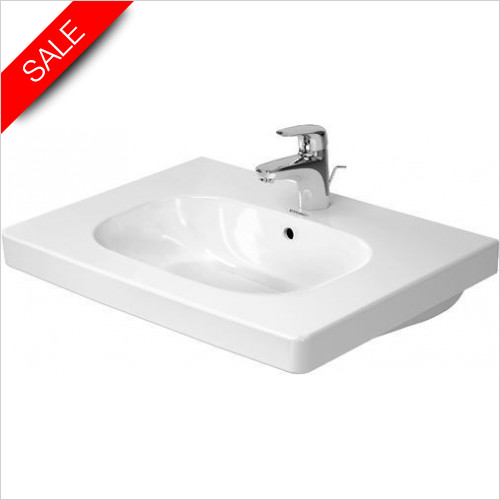 Duravit Basins - D-Code Furniture Washbasin 650mm 3TH