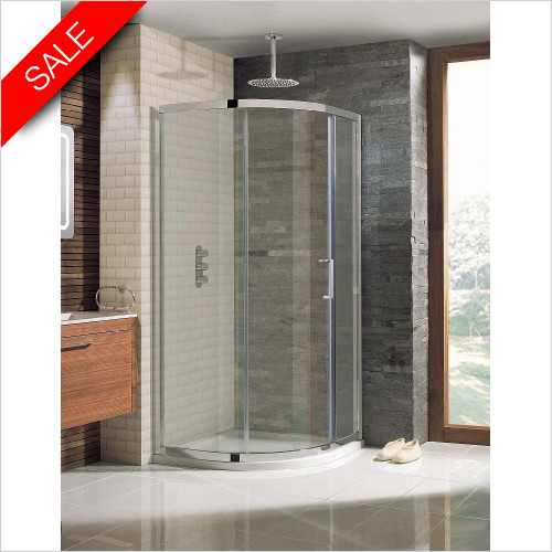 Simpsons Shower Enclosures - Elite Quadrant Single Door 1000x800mm