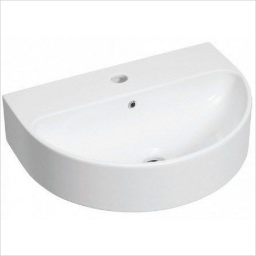 Bauhaus - Celeste Wall Mounted Basin With Overflow 500mm