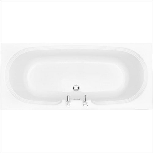 Heritage Baths - Dorchester 1800 x 800mm Acrylic DE Solid Skin Bath 2TH