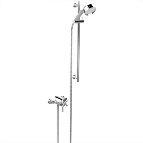 Heritage Showers - Somersby Exposed Shower With Deluxe Flexible Riser Kit