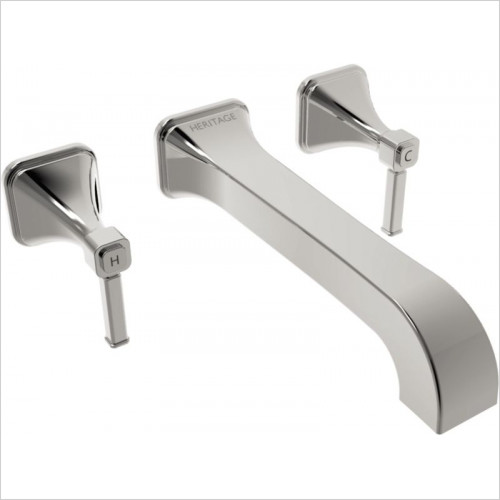 Heritage Taps - Somersby Wall Mounted Basin Mixer