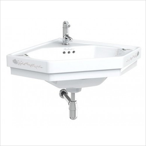 Burlington Basins - English Garden Corner Basin One Tap Hole With Overflow