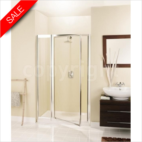 Simpsons Shower Enclosures - Supreme Pivot Door & Inline Panel 1100mm