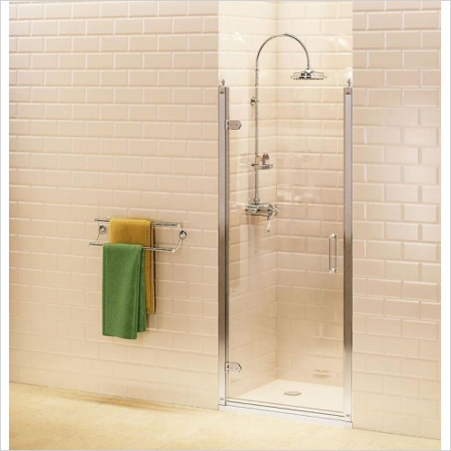 Burlington Shower Enclosures - Hinged Door 80cm