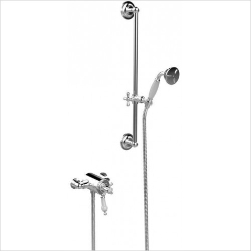 Heritage Showers - Hartlebury Exposed Shower With Premium Flexible Riser Kit