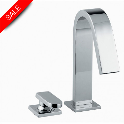 Abode - Rapture Deck Mounted 2 Hole Bath Filler